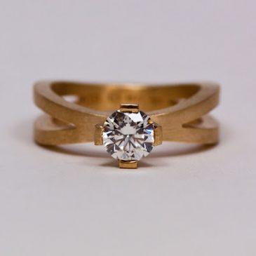 Ringen med den vackra etiska diamanten! Ring with beautiful ethical diamond!
