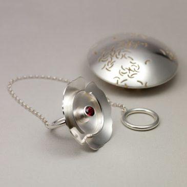 Äntligen bra bilder på min tekula/ring! Finally good pictures of my tea ball/ring!