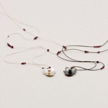 Begonia hängen på silke. Begonia pendants on silk.
