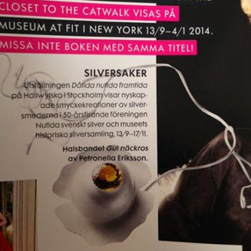 Mitt smycke har varit synligt  i pressen! My jewelry has been visible in the press!